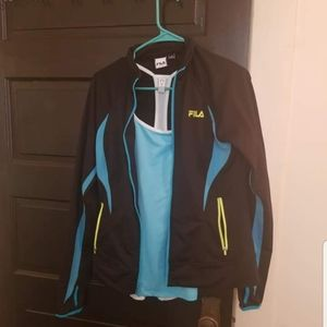 Fila womens track jacket, Under Armour tank top